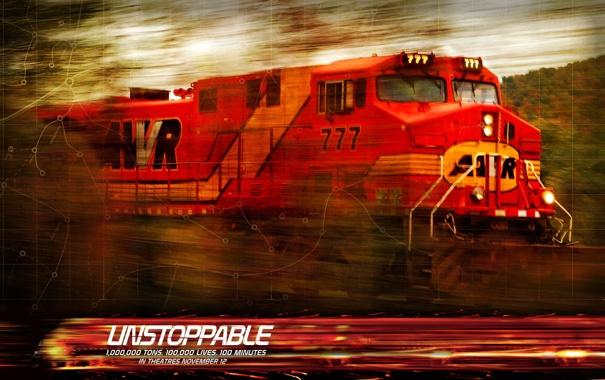 Фото обои фильм-катастрофа, Неуправляемый, Unstoppable