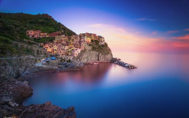 Фото обои город, дома, Италия, Italy, Manarola, Манарола, Cinque Terre