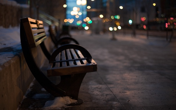 Фото обои город, улица, боке