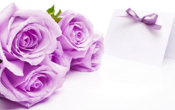 Фото обои розы, букет, открытка