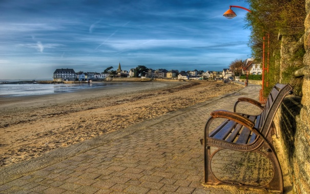 Фото обои город, France, Brittany, Larmor