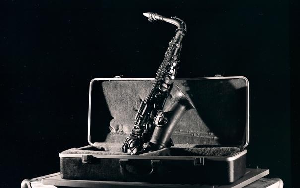Фото обои музыка, футляр, саксофон, The Jazz Series