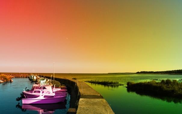 Фото обои фото, обои, пейзажи, вид, лодки