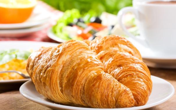 Фото обои завтрак, выпечка, джем, круассаны, croissant, breakfast