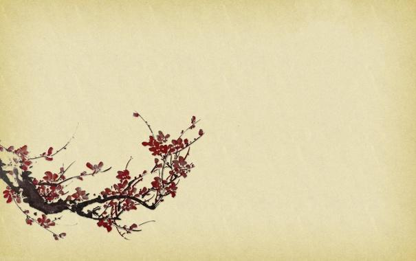 Фото обои япония, сакура, арт