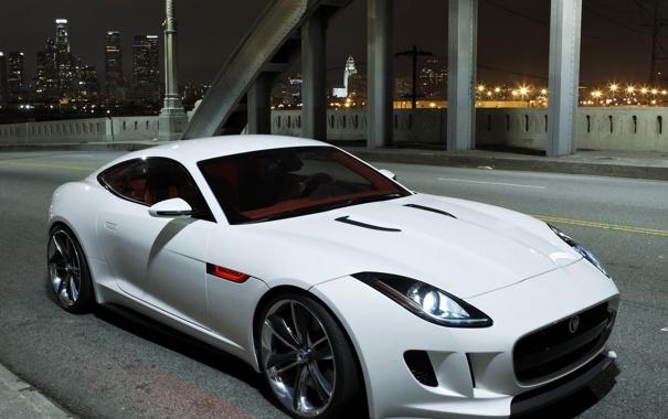 Фото обои Concept, белый, Jaguar, ягуар, C-X16
