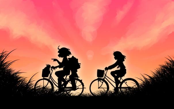 Фото обои yasaka kanako, поездка, велосипеды