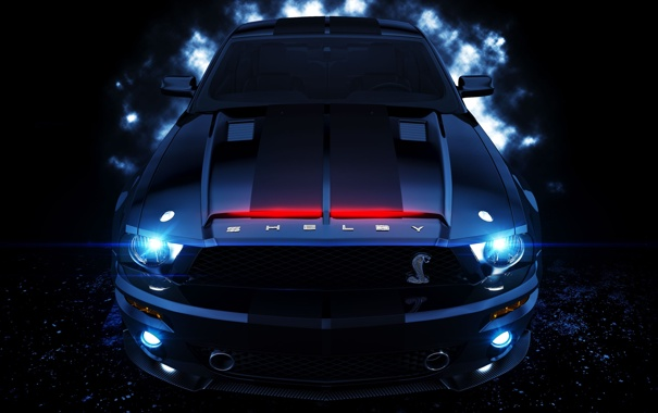 Фото обои shelby, night rider, k_i_t_t