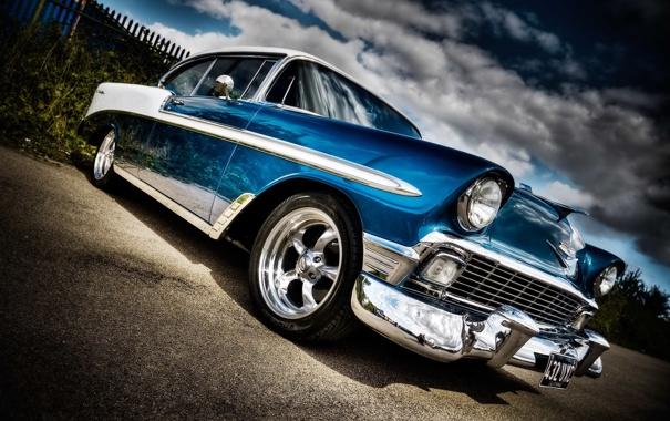 Фото обои car, машина, авто, Chevrolet, Bel Air, 1958