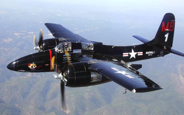 Фото обои полет, самолет, ландшафт, пилот, пропеллер