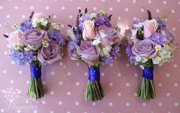 Фото обои цветы, розы, ромашки, букеты, флоксы, левкой