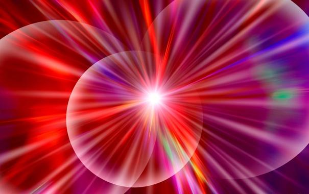 Фото обои лучи, свет, линии, цвет, круг, кольцо