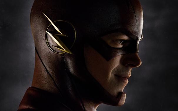 Фото обои лицо, фантастика, маска, сериал, крупным планом, Флэш, The Flash
