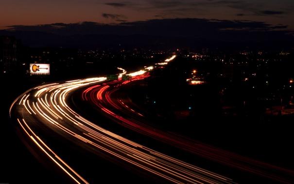 Фото обои дорога, свет, шоссе, Highway