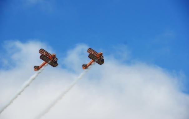 Фото обои небо, авиация, шоу, самолёты