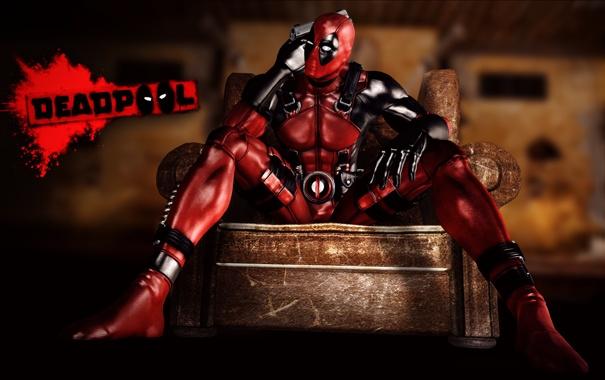 Фото обои костюм, Deadpool, наемник, marvel comics, Wade Wilson, антигерой