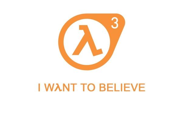 Фото обои минимализм, half-life, logo, lambda, hl3, i want to belive