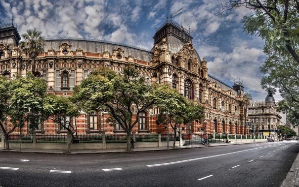 Фото обои дорога, деревья, Argentina, дворец, Аргентина, Буэнос-Айрес, Buenos Aires