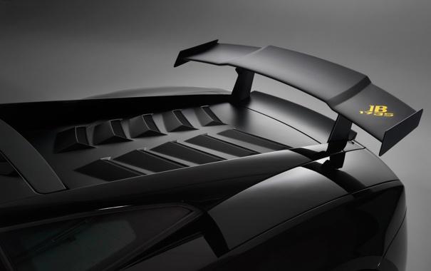 Фото обои Lamborghini, спойлер, Gallardo, LP 570-4, Blancpain-Edition 4