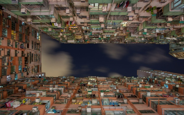 Фото обои Sky, Lights, Night, Hong Kong, Quarry Bay, Bryan Leung Photography