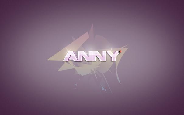 Фото обои фиолетовый, Аня, Анна, божая коровка, purple, Ann, имя