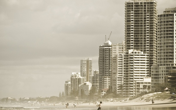 Фото обои море, дети, город, фото, люди, настроение, океан