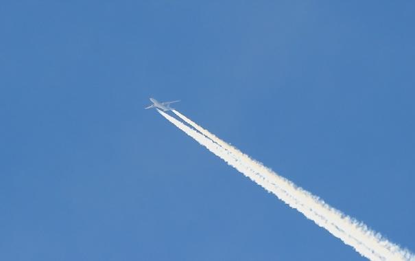 Фото обои небо, пейзаж, самолёт