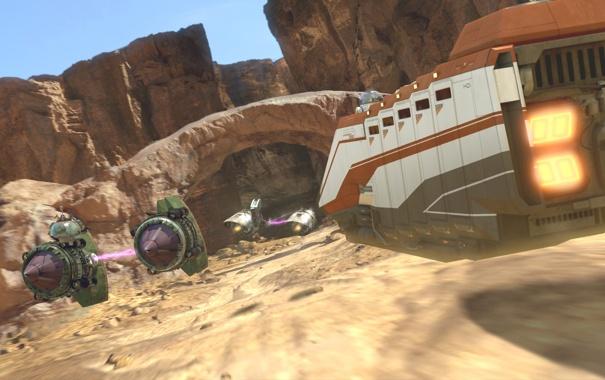 Фото обои desert, race, Star wars, Episode I