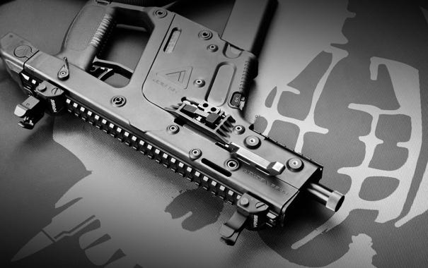 Фото обои пистолет, фон, пулемёт, Super V, KRISS Vector