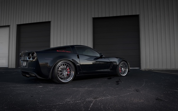 Фото обои тюнинг, гараж, chevrolet corvette z06