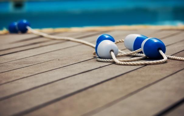 Фото обои буйки, boards, 1920x1200, buoy, доски, rope, macro