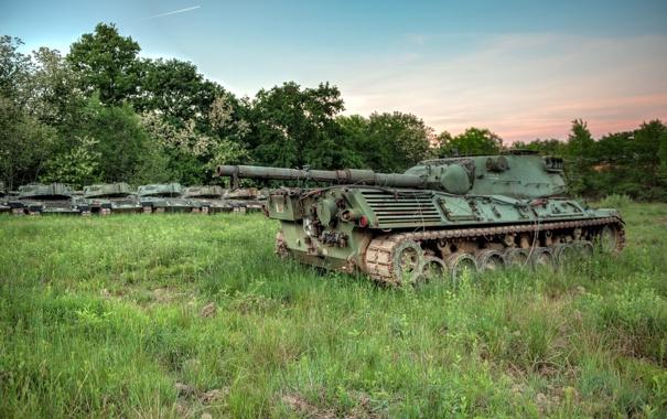Фото обои поле, оружие, танки
