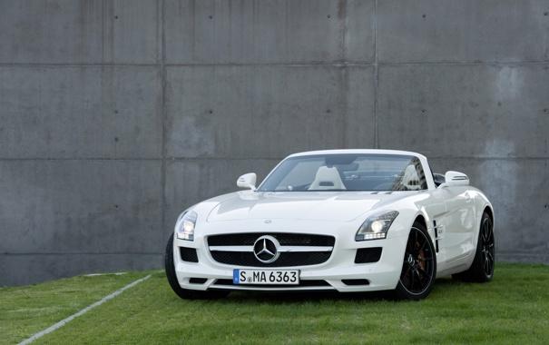 Фото обои авто, white, mercedes, cars, Mercedes SLS