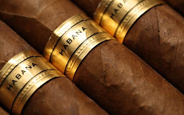 Фото обои золото, habana, сигары, марка, табак