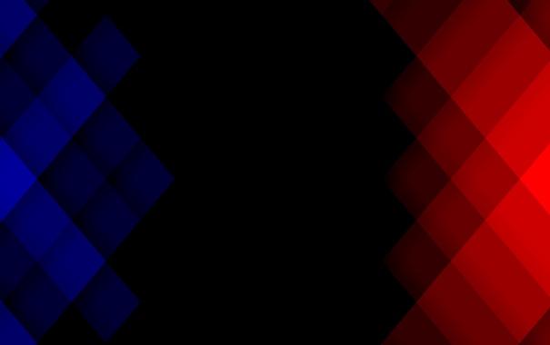 Фото обои синий, красный, квадрат, пиксель
