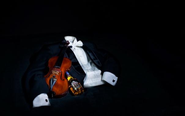 Фото обои музыка, скрипка, виски