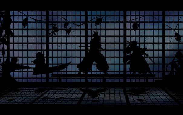 Фото обои аниме, тени, Bleach, блич, позиции