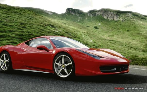 Фото обои игра, гонки, Ferrari, Forza Motorsport 4