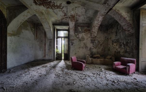 Фото обои комната, интерьер, кресла
