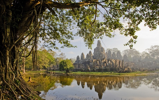 Фото обои болото, цивилизация, камбоджа