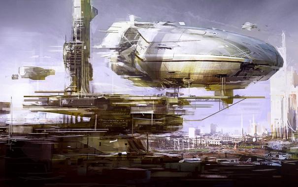 Фото обои город, корабли, Deloading