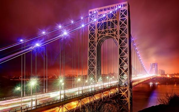 Фото обои United States, New Jersey, The George Washington Bridge, Fort Lee