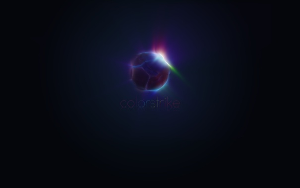 Фото обои цвет, шар, удар, colorstrike
