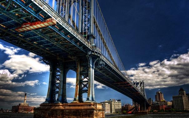 Фото обои город, USA, нью-йорк, сша, Brooklyn, New York, Manhattan