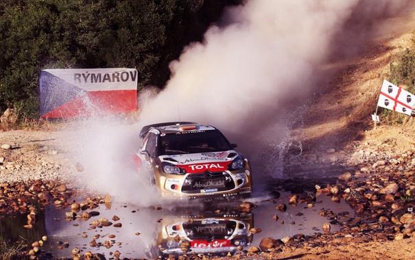 Фото обои Ралли, Citroen, Бездорожье, Спорт, Rally, WRC, Total
