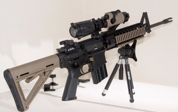 Фото обои оружие, оптика, прицел, AR-15, штурмовая винтовка