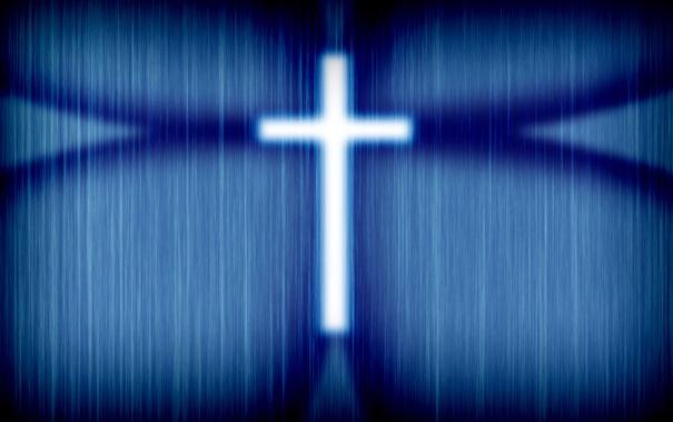 Фото обои white, blue, shadow, Cross