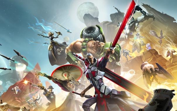 Фото обои Взгляд, Магия, Оружие, 2K Games, Gearbox Software, Экипировка, Battleborn
