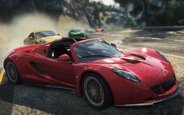 Фото обои гонка, погоня, спорткар, need for speed most wanted 2012, Venom GT Spyder