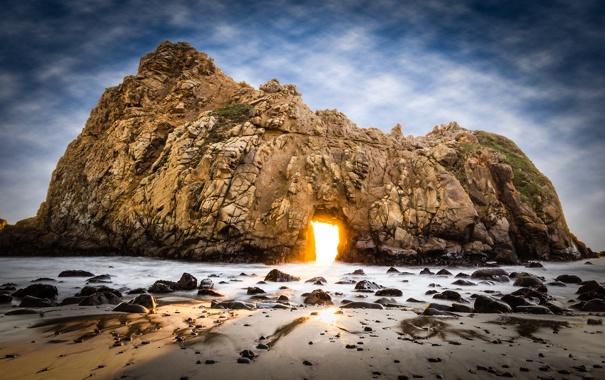 Фото обои USA, США, State California, Штат Калифорния, Big Sur, Биг-Сюр, Pfeiffer Big Sur State Park